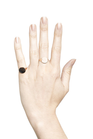 READY HEART RING - BLACK