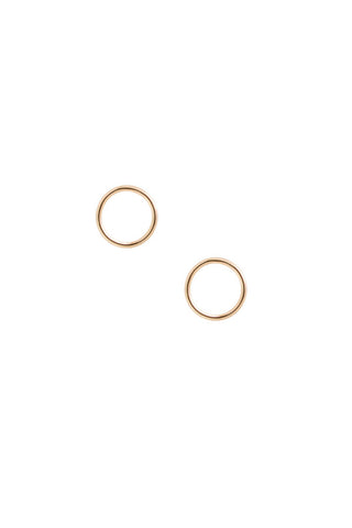 MONO CIRCLE EARRING - ROSE GOLD