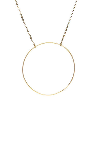 MONOCLE NECKLACE - HIGH POLISHED GOLD
