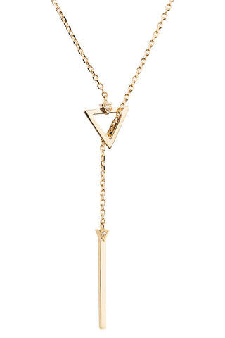SARAH DIAMOND NECKLACE  - 14K YELLOW GOLD