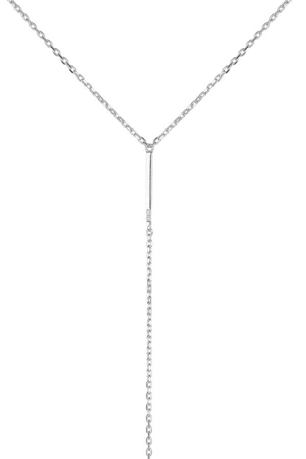SANAE DIAMOND NECKLACE - SILVER