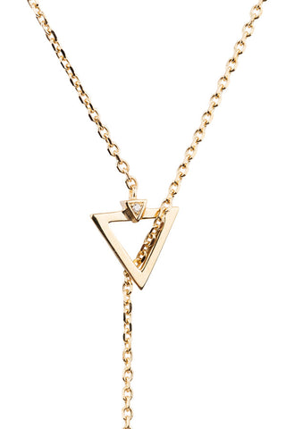 SARAH DIAMOND NECKLACE  - 18K YELLOW GOLD