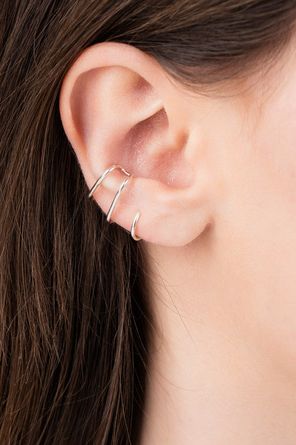 AURICLE NUDE EAR CUFF - SILVER