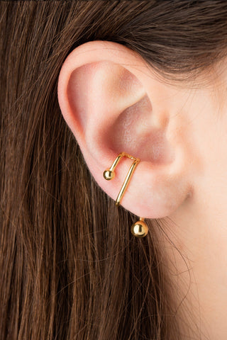 ILLUSION EAR CUFF - SILVER