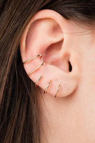 ORBIT NUDE EAR CUFF - SILVER