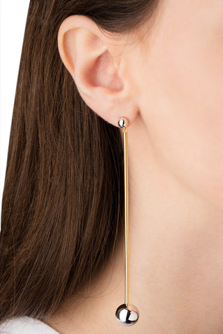 ORBIT SHOULDER DUSTER EARRING - ROSE GOLD