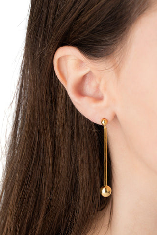 ORBIT EARRING - HIGH POLISHED GOLD
