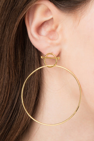 SWING EARRING - HIGH POLISHED GOLD