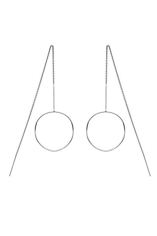MONOCLE EARRING - SILVER