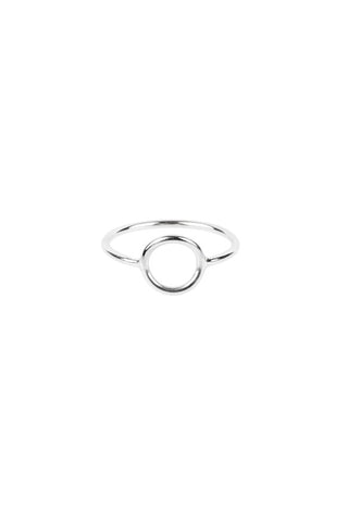 MONOCLE RING SMALL CIRCLE - SILVER