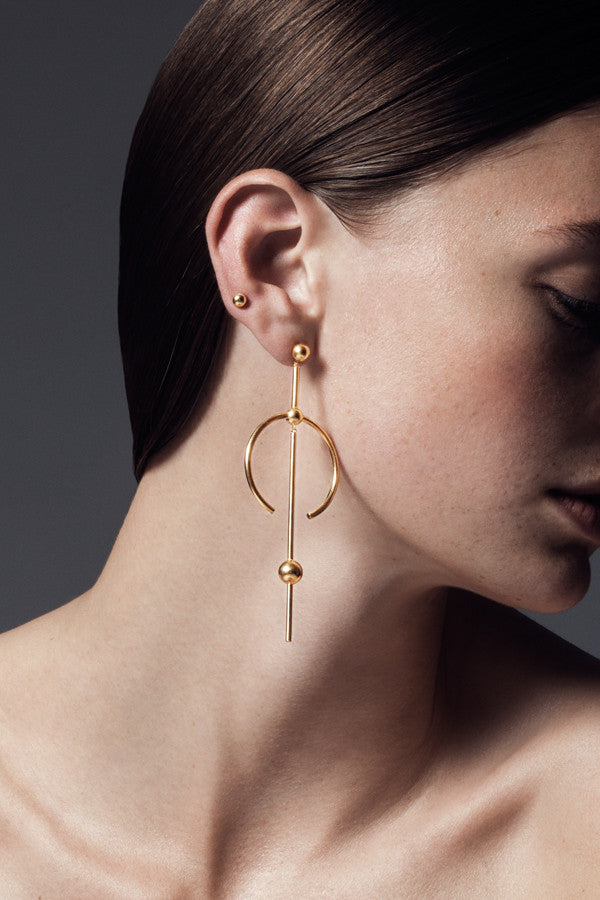 HYDRA MAXI EARRING - HIGH POLISHED GOLD