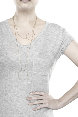 MONOCLE NECKLACE - GOLD