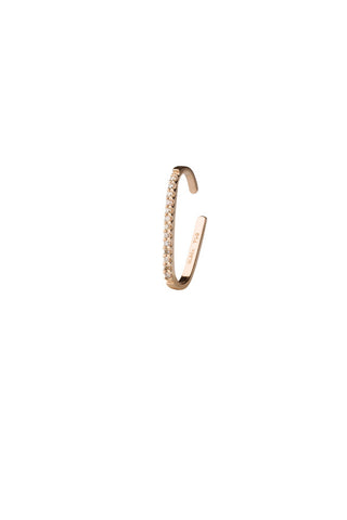 REVIER DIAMOND EAR CUFF - 18K ROSE GOLD
