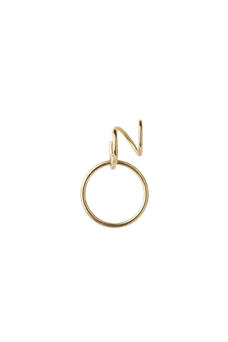 SAGA MEDI TWIRL EARRING - HIGH POLISHED GOLD