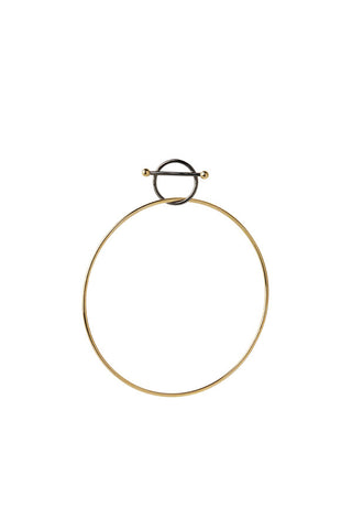 SWING EARRING - GOLD/BLACK