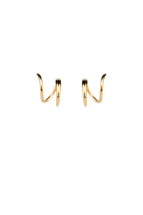 TUSK TWIRL EARRING - HIGH POLISHED GOLD