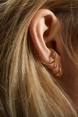 TWIN MAXI EAR CUFF - HIGH POLISHED GOLD