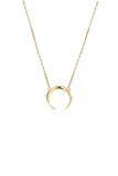 TUSK NECKLACE - HIGH POLISHED GOLD