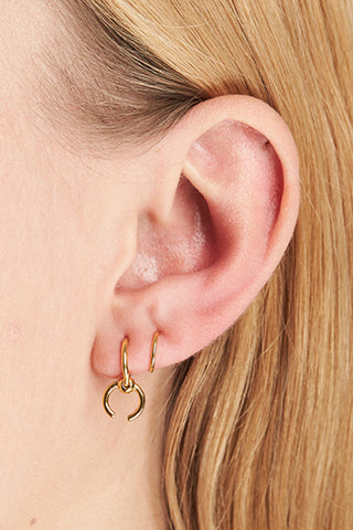 RIGA TWIRL EARRING - HIGH POLISHED GOLD