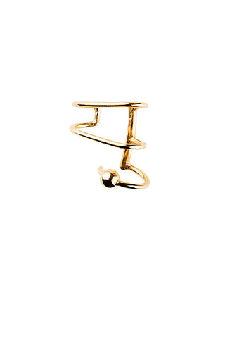 AURICLE EAR CUFF #LEFT - HIGH POLISHED GOLD