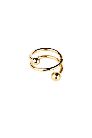BODY SPIRAL RING - HIGH POLISHED GOLD