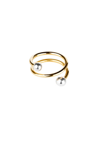 BODY SPIRAL RING - GOLD/SILVER