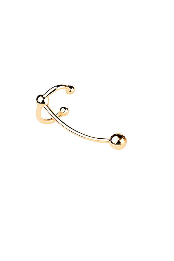 HELIX EAR CRAWLER EARRING - HIGH POLISHED GOLD