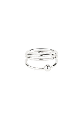 HELIX TRAPEZ RING - SILVER