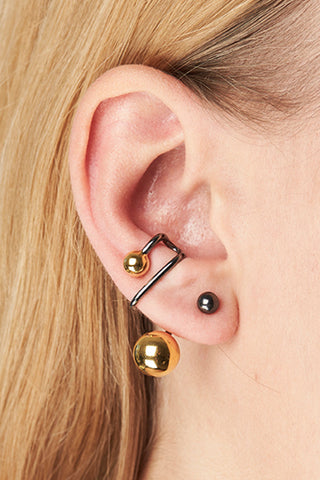 ORION EAR CUFF - GOLD/BLACK