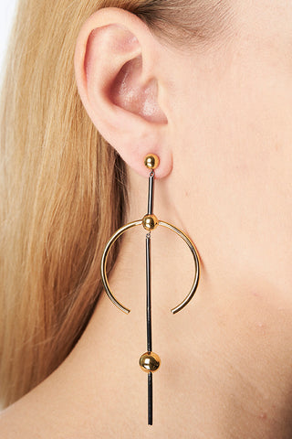 HYDRA MAXI EARRING - GOLD/BLACK