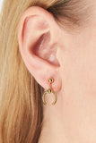 PHOENIX MINI EARRING - GOLD/SILVER