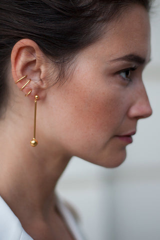 ORBIT EARRING - TWO TONE