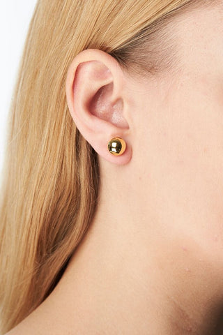 CORVI 10 EARRING - HIGH POLISHED GOLD
