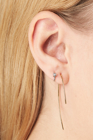 Anais Blanc Earring - 18K yellow gold