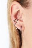 Avery Mono Ear Cuff - 14K white gold