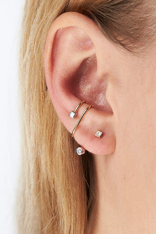 BAILEY BLANC EAR CUFF - 14K YELLOW GOLD