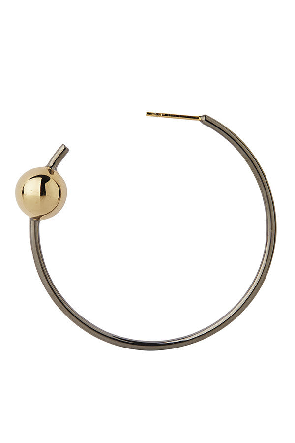 ORION MAXI HOOP EARRING - GOLD/BLACK