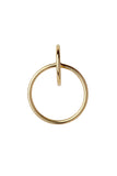 NORMA MEDI HOOP EARRING - HIGH POLISHED GOLD