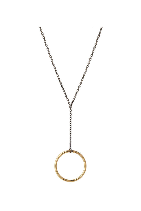 NORMA MINI NECKLACE - GOLD/BLACK