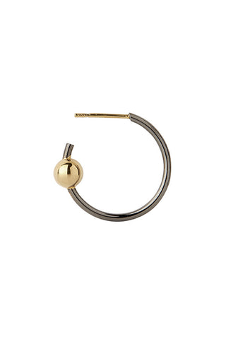 ORION MEDI HOOP EARRING - GOLD/BLACK