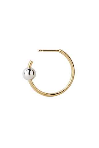 ORION MEDI HOOP EARRING - GOLD/SILVER