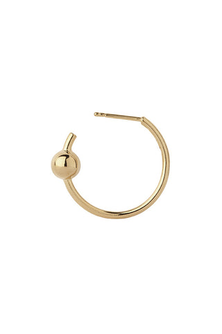 ORION MEDI HOOP EARRING - HIGH POLISHED GOLD