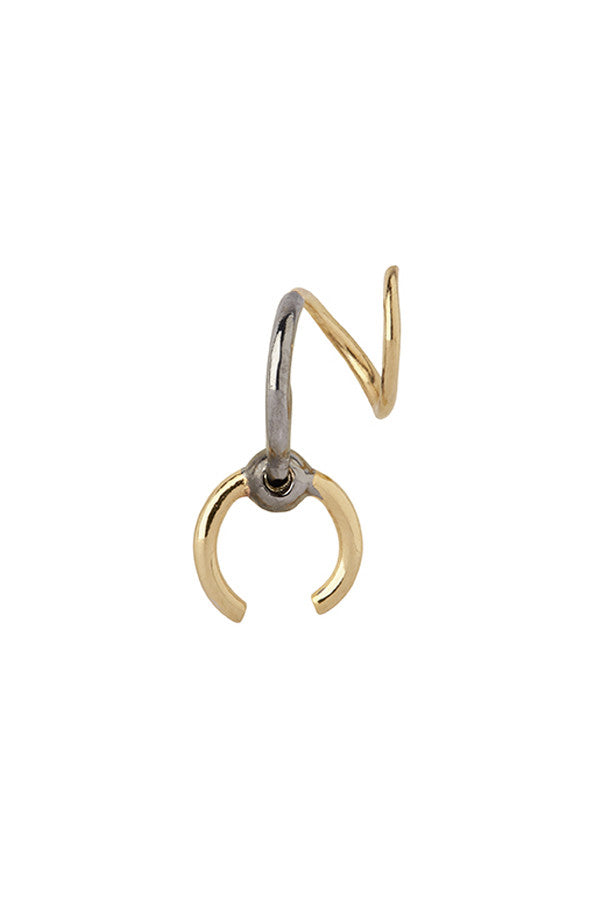 RIGA TWIRL EARRING - GOLD/BLACK