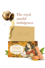Load image into Gallery viewer, Khadi Shahi Sandal Soap With Almond Oil For Luxurious Skin - 100 g (75g + 25g) (set of 6)