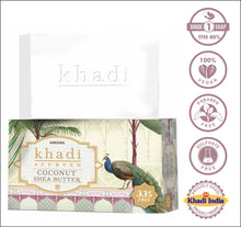 Load image into Gallery viewer, Khadi Coconut Shea Butter Soap For Soft And Glossy Skin - 100 g (75g + 25g) (set of 6)