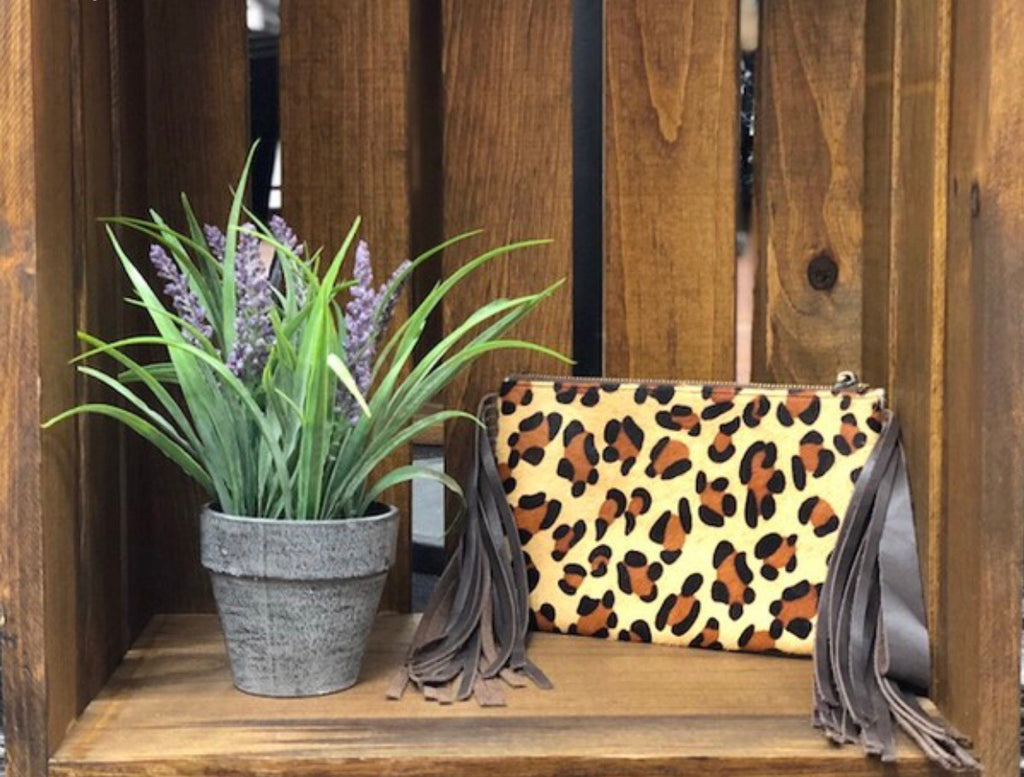 Cow & Leopard Print Clutch
