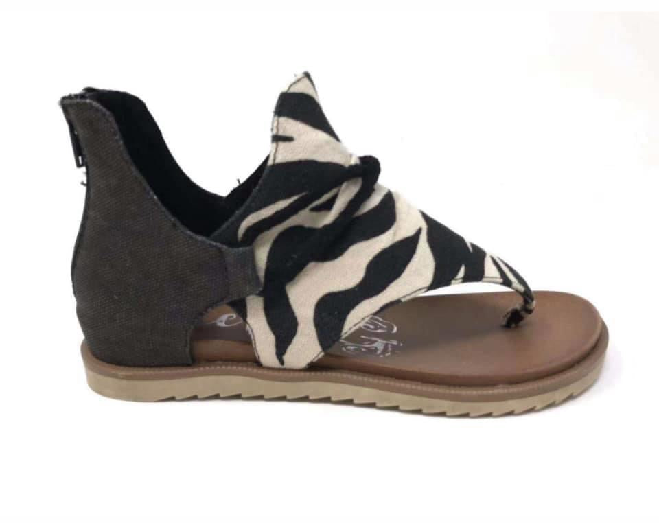 Very G Zebra Sparta Sandals (IN STOCK)
