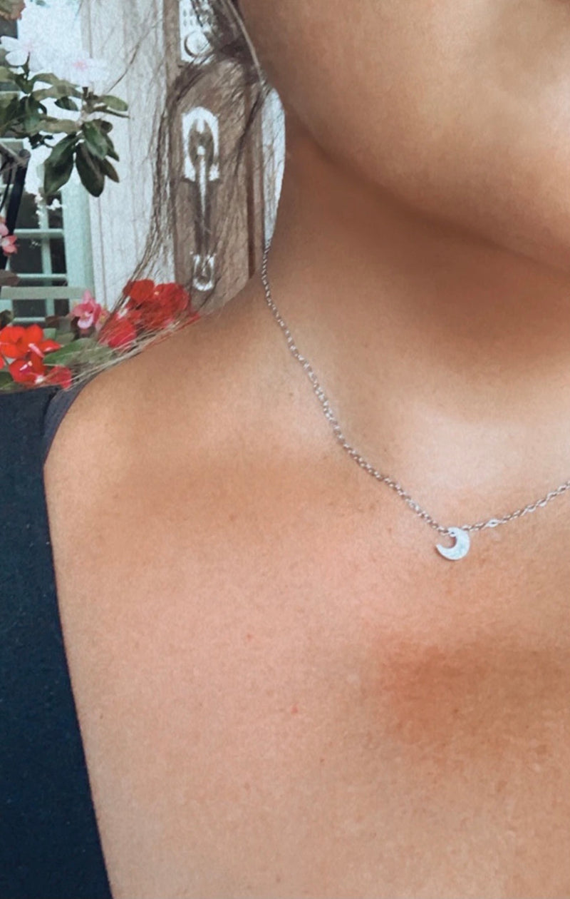 Moon Child Necklace-Silver