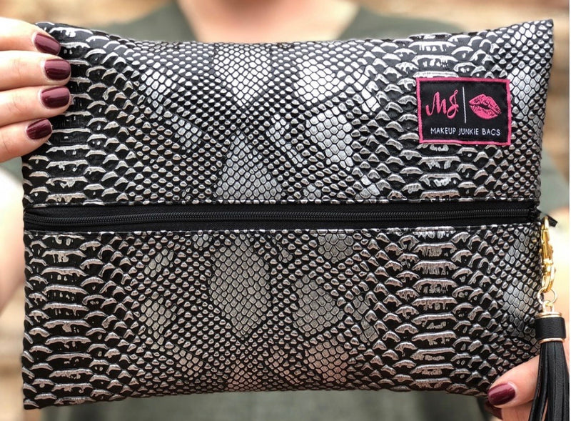 Gunmetal Makeup Junkie Bag