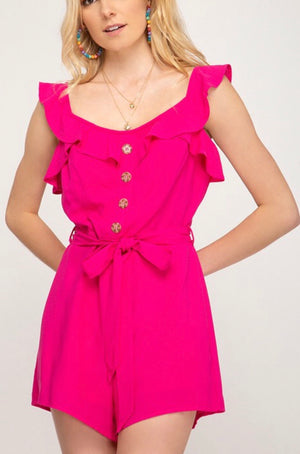 Nothing But Fun Romper, Pink